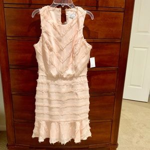 Brand new dress size small in a salmon color